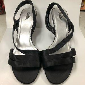 Rialto Black Strapped Heels Size 7